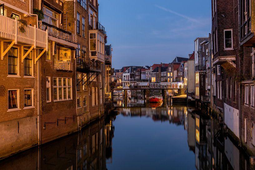 Grachten in Dordrecht van Bert Beckers