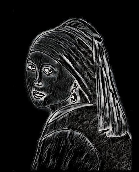 Das Mädchen mit dem Perlenohrring. von Jose Lok