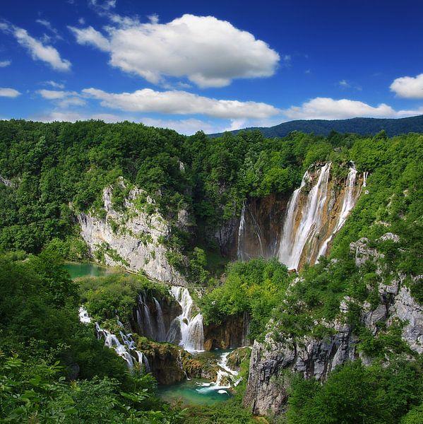 Veliki slap Wasserfall Nationalpark Plitvicer Seen  van Renate Knapp