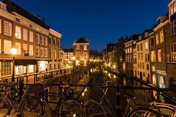 Utrecht Oudegracht in de nacht van Daan Kloeg