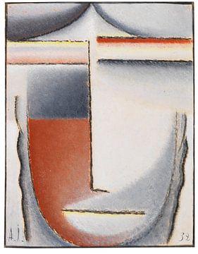 Winterstemming  (Abstract Hoofd), Alexej von Jawlensky, 1932 van Atelier Liesjes