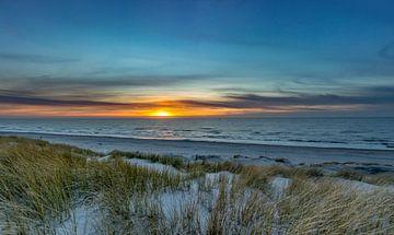 paal 21 texel zonsondergang van