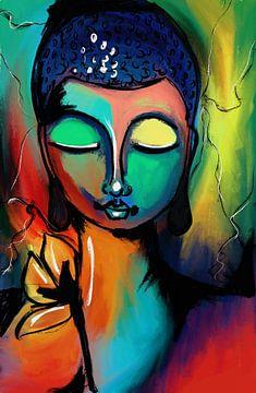 Modern Buddha van Jolanda Janzen-Dekker