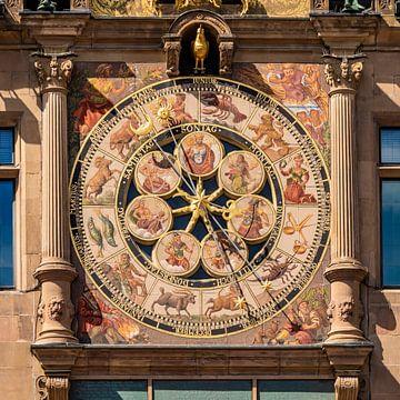 Kunstuhr am Rathaus von Heilbronn von Werner Dieterich
