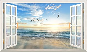 Een adembenemend uitzicht op de zee van Bert Hooijer