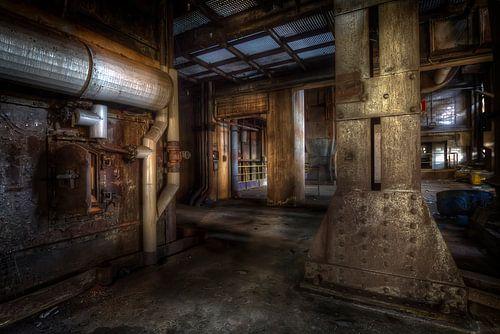 Betonnen oerwoud in een verlaten staalfabriek