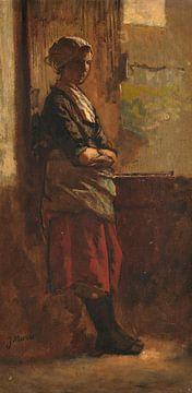 Mädchen an einer offenen Tür, Jacob Maris