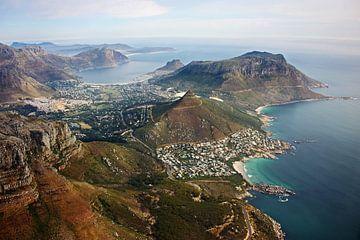 Cape peninsula aerial view II van Meleah Fotografie