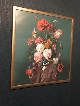 Kundenfoto: Selbstbildnis mit Blumen 3 von toon joosen