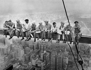 Lunch atop a Skyscraper van Vintage Afbeeldingen