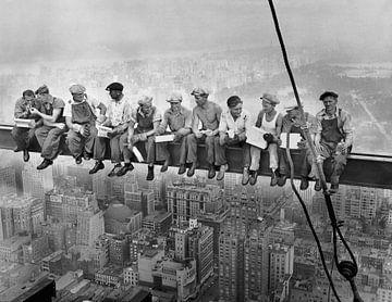 Déjeuner au sommet d'un gratte-ciel sur Vintage Afbeeldingen