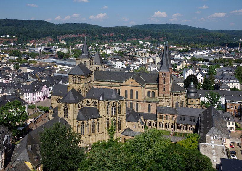 De kathedraal van Trier en de Liebfrauenkirche. van Berthold Werner