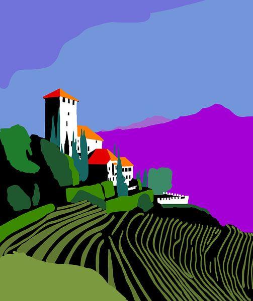 Chateau in Tirol met wijngaard van Lida Bruinen