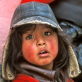 Meisje uit Alausí, Ecuador van Henk Meijer Photography