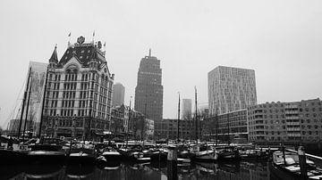 Witte huis in Rotterdam van Sander Wesdijk