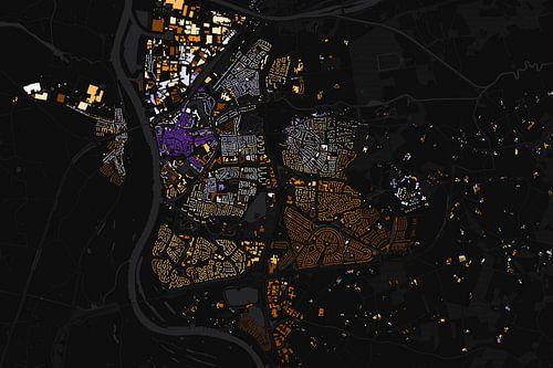 Kaart van Zutphen abstract van