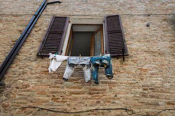 Was aan de waslijn in Italie