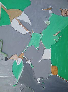 Groene haai van Petra de Kroon