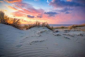 Kustlijn met duin en strand van eric van der eijk