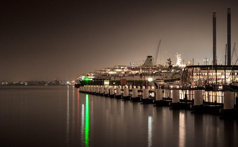 NDSM Pier bij nacht van Dutch Creator