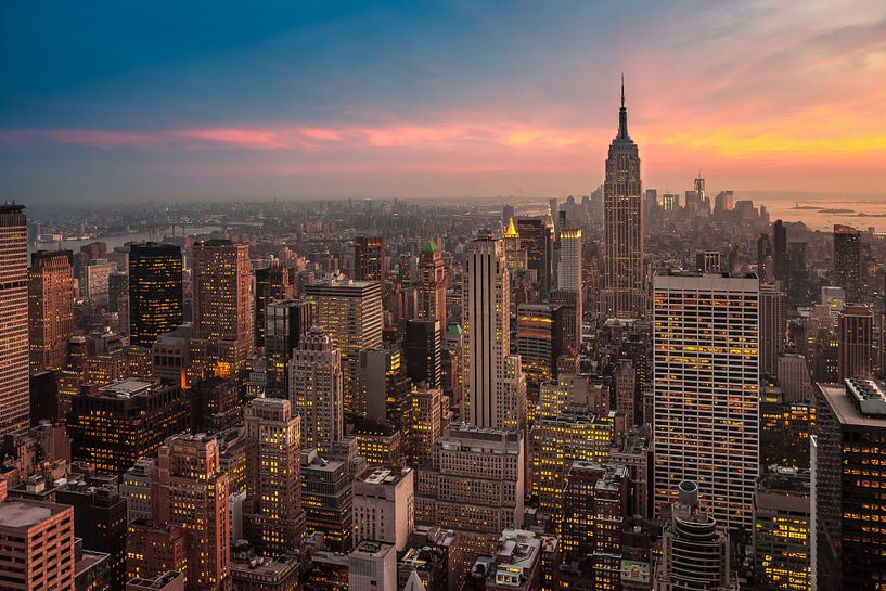 New York Panorama V van Jesse Kraal