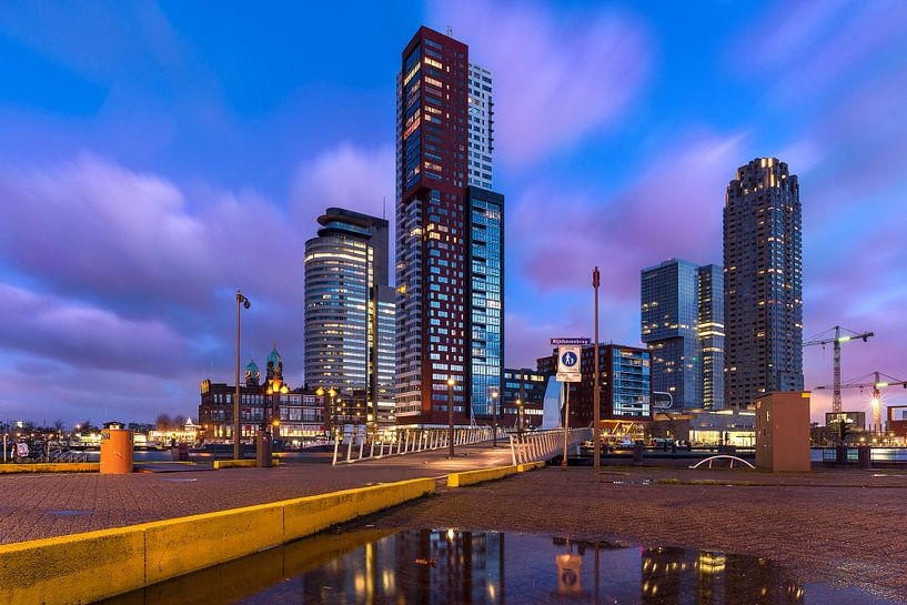 Skyline Rotterdam (Kop van Zuid) van Prachtig Rotterdam