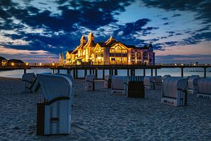 Sellin Pier, Rugen nach Sonnenuntergang