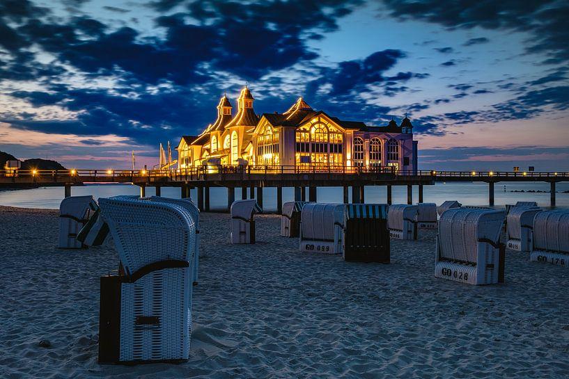 Sellin Pier, Rugen nach Sonnenuntergang von Evert Jan Luchies