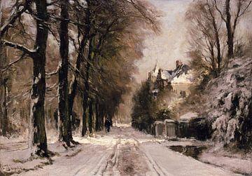 Waldallee im Winterkleid, Louis Apol