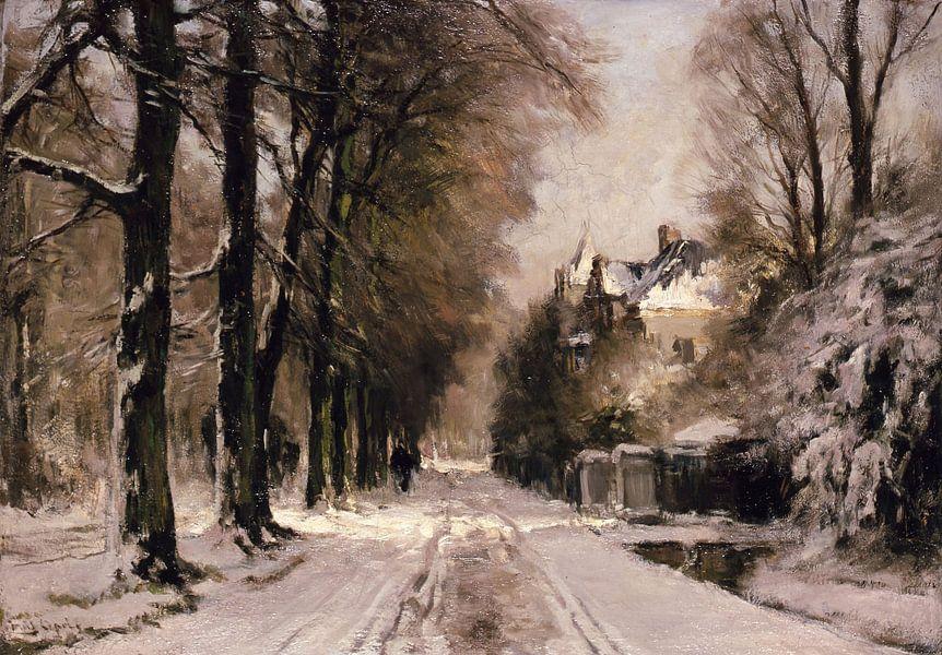 Boslaan in wintertooi, Louis Apol van Meesterlijcke Meesters