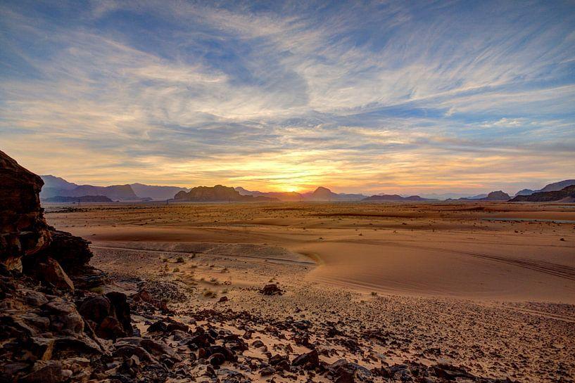 Zonsondergang in de woestijn van x imageditor