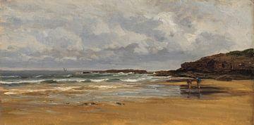 Carlos de Haes-Zeezijde gelbe Sandlandschaft, Antike Landschaft