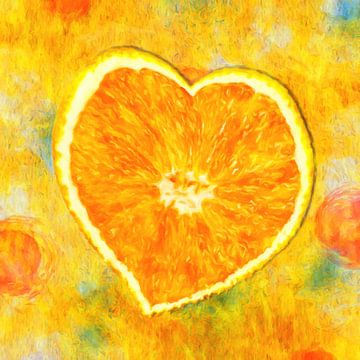 oranje hart van Marion Tenbergen