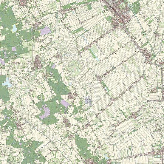 Kaart vanBorger-Odoorn van Rebel Ontwerp