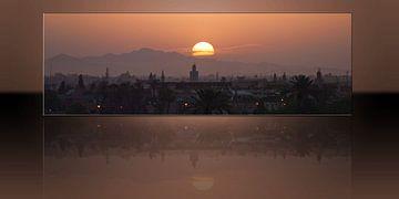 Sonnenaufgang über Marrakesch von Bob de Bruin