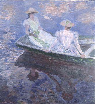 On the Boat, Claude Monet sur