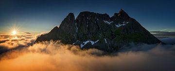 Breidtinden ridge panorama von Wojciech Kruczynski