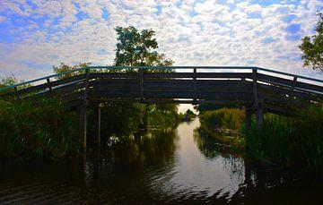 Houten brug (Giethoorn) van Saskia Veenstra