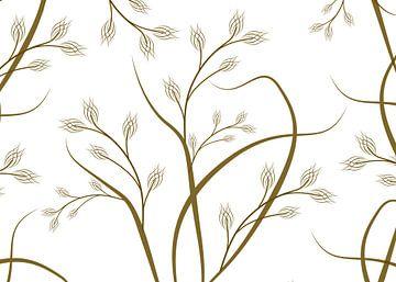 bruine sierlijke takken van daphne houtman