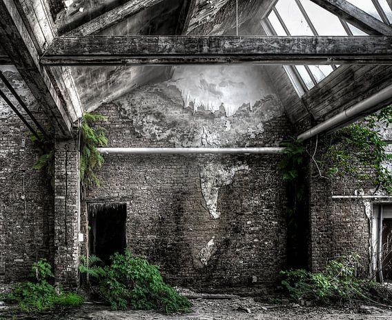 Verlaten plaats - Hal met groen van Carina Buchspies