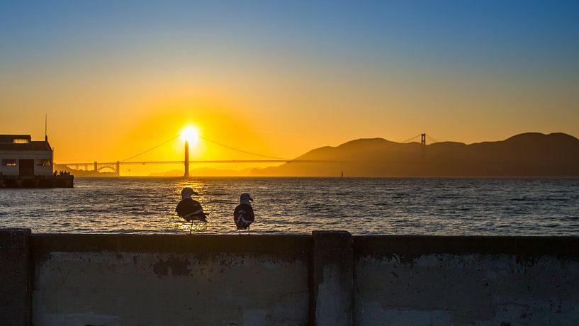 Zonsondergang in San Francisco van Sonia Alhambra Mosquera