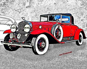 Cadillac Fleetwood, Red 1930 sur Natasja Tollenaar