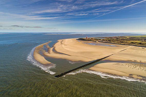 Vuurtoren Eierland van boven - Texel van Texel360Fotografie Richard Heerschap