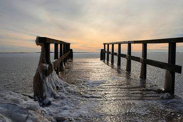 IJsselmeer in de Winter van Mireille Breen