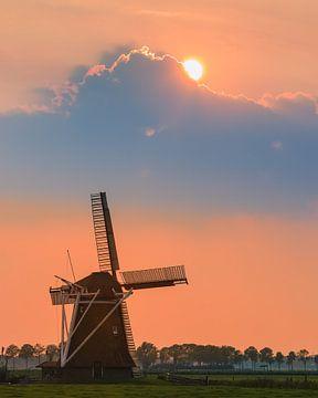 Moulin à vent Koningslaagte à Zuidwolde, Pays-Bas sur Henk Meijer Photography