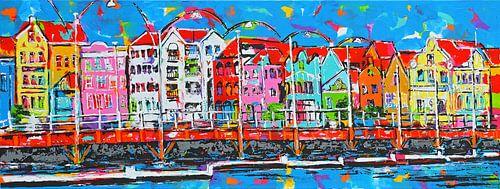 Willemstad Curaçao van Vrolijk Schilderij