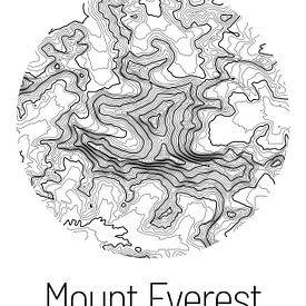 Mount Everest | Landkarte Topografie (Minimal) von ViaMapia