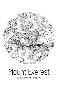 Le Mont Everest | Topographie de la carte (Minimal) sur ViaMapia