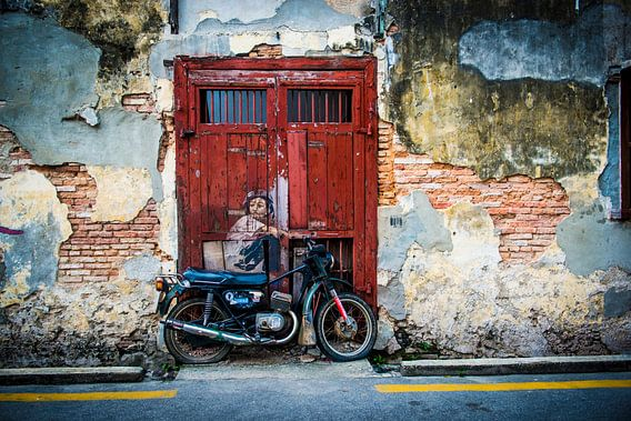 Jongetje op motor