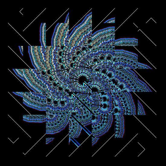 Blue fractal
